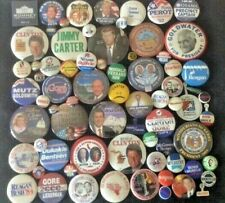Button Lot Collection of 80+ different Political,Presidential,CAUSE, buttons