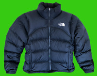 Vintage The North Face Womens Nuptse Black 700 Fill Goose Down Puffer Jacket S