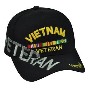 Vietnam Veteran  Shadow War Nam Military Black Hat Cap Support Air Force