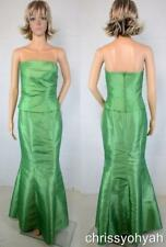 Bella Formals by Venus Green Strapless Ruch 2 pc Mermaid Bridesmaid Formal Dress