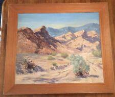 """Desert Mountain Landscape Scenery by Madelin Nielsen ? 26 1/4"""" X 31"""" 32"""" X 36.5"""""""