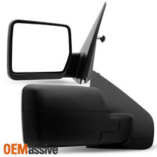 Fit 2004-2014 Ford F150 Pickup Truck Textured Manual Mirror Pair Set Replacement