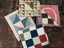 Antique Vintage Hand Quilted Hand Tied Quilt Pieces Sections Block Cutter Crafts