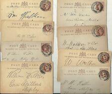 1895/6 8 x Bradford postmarks su CARTOLERIA postale per W WALKER Shipley CORN Mill