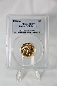 MODERN COMMEMORATIVES 1986-W STATUE OF LIBERTY $5 PCGS MS69 95,248 MINTED RARE