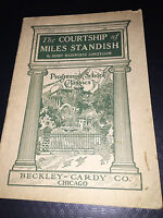 1914 COURTSHIP OF MILES STANDISH PROGRESSIVE SCHOOL CLASSIC BECKLEY CARDY CO.