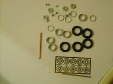 "1/43rd scale etched wire wheels by K&R Replicas suitable for cars with 16"" wheel"