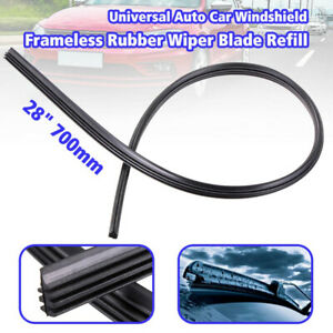 28″ 700mm Car Vehicle Wiper Blade Refill Natural Rubber Strip Insert Universal