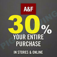 💥💥💥  Abercrombie  COUPON 30% OFF $75-Work- Sale Clearance *BIG SAVING 💥💥💥