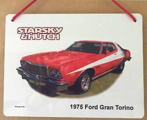 Ford Gran Torino 351cu in. 1976 - Starsky & Hutch - Aluminium Plaque (148x210mm)