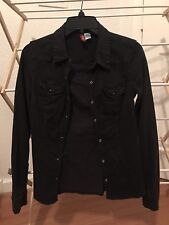 H&M Size 2 Womans Long Sleeve Button Up