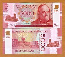 Paraguay, 5000 (5,000) Guaranies 2017 (2018) POLYMER, P-234-New, I-Prefix UNC
