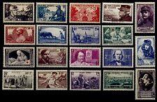 L'ANNÉE 1940 Complète, Neufs * = Cote 93 €  / Lot Timbres France n°451 à 469