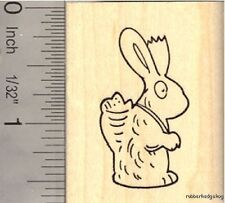 Chocolate Easter Bunny  Rubber Stamp E13112