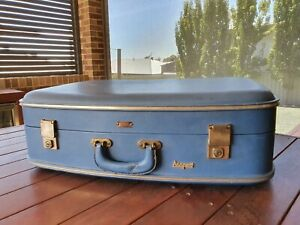 🛄 Vintage Jet-Flite Fibreglass Suitcase Sky Blue 🛄