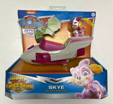 PAW PATROL Mighty Pups SKYE DELUXE VEHICLE & FIGURE Super Paws Lights & Sounds