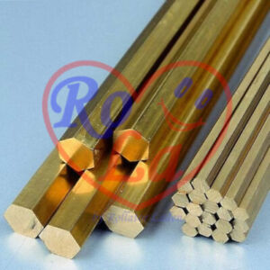 Messing Sechskant 6kt Material SW=12 mm Länge 100mm Ms58 rund CuZn39Pb