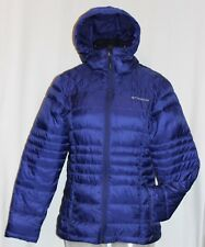 Columbia Womens Violet Full Zip Puffer Jacket with Hood Insulated Size Small