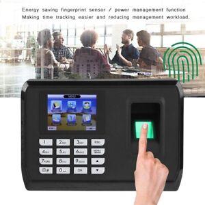 Fingerprint+Password Time Recorder Clocking In Clock Machine Attendance Check