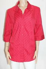 NOW Brand Red Striped 3/4 Sleeve Shirt Top Size 20 BNWT #Si73