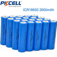20 x 18650 3.7V 2600mAh Li-ion Rechargeable Batteries Cell for Flashlight PKCELL