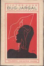 LETTERATURA FRANCESE HUGO VICTOR BUG-JARGAL 1932