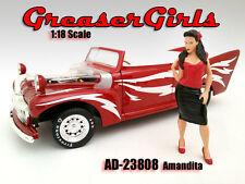 GREASER GIRL AMANDITA FIGURE 1:18 SCALE DIECAST MODELS AMERICAN DIORAMA 23808
