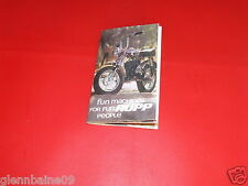 """VINTAGE  RUPP MINIBIKE POINT OF SALE 12 1/2"""" X 11"""" FOLD OUT  (REPRODUCTION )"""