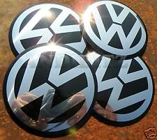 Rueda de aleación VW RS4 Golf Passat Centre Cap badges 9cm 9 cm 90mm 90 mm Conjunto de 4