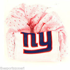New York Giants Pink Hair Twist Scrunchie Set of Two