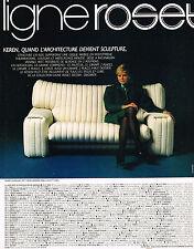 PUBLICITE  ADVERTISING 1982   LIGNE ROSET  canapé                         030513