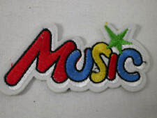 Colorful Music With Star Embroidered Iron On Patch 3.5 In