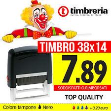TIMBRI AUTOINCHIOSTRANTI - TIMBRO PERSONALIZZATO LOGO - TIMBRO AUTOMATICO 38X14
