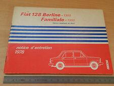 MANUALE USO MANUTENZIONE ORIGINALE FIAT 128  AMERICA 1978