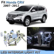 7x Xenon White LED Interior Lights Kit For Honda CR-V CRV 2007-2012