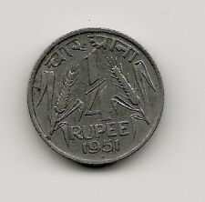 World Coins - India 1/4 Rupee 1951 Coin KM# 5