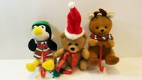 Lot Of 5 Vtg 1988 Applause Plush Christmas Stockings &Hangers plus Jerry Pets...