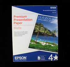 "Epson Borderless 8"" X 10"" Premium Matte Presentation Paper 50 Sheets #S041467"
