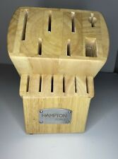 Hampton Forge 13 Slot Wood Knife Block - knives not included