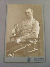 107931, Portraitfoto, Offizier, Husar, Husaren Regiment 16, Löwenkopfsäbel