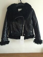 GUCCI Girls Black Biker Jacket Size 8 years