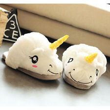 Da Donna Ragazze Novità 3d Personaggio Peluche Unicorno Pantofole Animali Donna