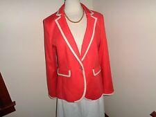 NEW BANANA REPUBLIC Size 12 Coral Cream Blazer Jacket