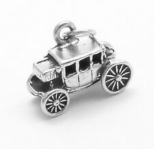925 Sterling Silver Stage Coach Charm