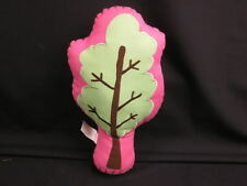 GIVE A TREE PINK GREEN BROWN THROW PILLOW POTTERY BARN PB TEEN PLUSH STUFFED