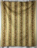 Vintage Waverly Fabric Roanoke Stripe Fruit Flowers 3+ Yards by 49 Inches Wide