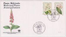 (K82-26) 1990 UN FDC medicinal plants (Z)