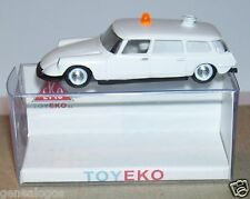 MICRO TOY EKO TOYEKO HO 1/86 1/87 ESPAÑA CITROEN DS 19 BREAK AMBULANCIA REF 2159