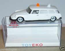 MICRO TOY EKO TOYEKO HO 1/86 1/87 SPAIN CITROEN DS 19 BREAK AMBULANCE REF 2159