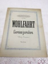 VINTAGE SHEET MUSIC WOHLFAHRT DAILY EXERCISES VIOLIN EXERCICES JOURNALIERS VIOLO